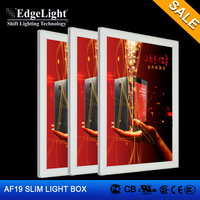 Edgelight Customized Design aluminum small display light box CE UL RoHS Approved
