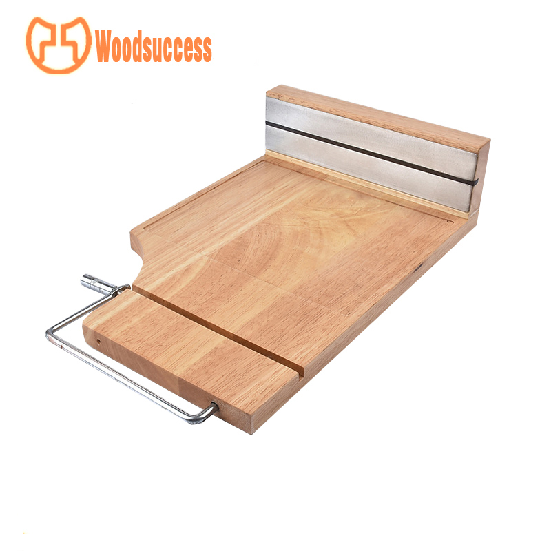 rubber wood with cutting cheese board