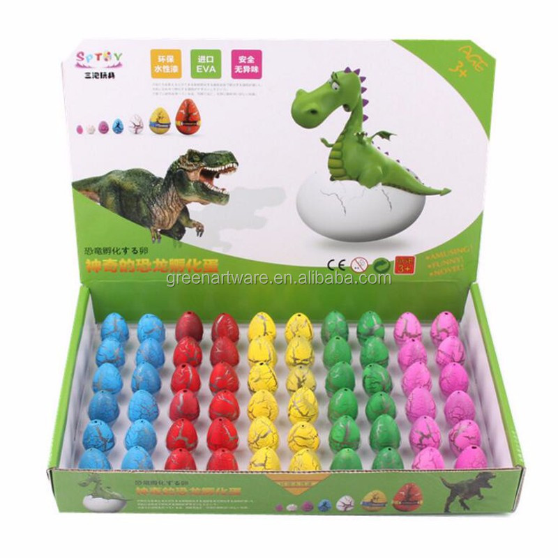 Wholesale Hot Fashion Funny small toy Novel Dinosaur Growing Eggs Fracture Water Eggs