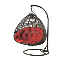 garden oreclining outdoor swing chair, egg shaped wicker chairs, indoor hanging swing egg chair HFG-050