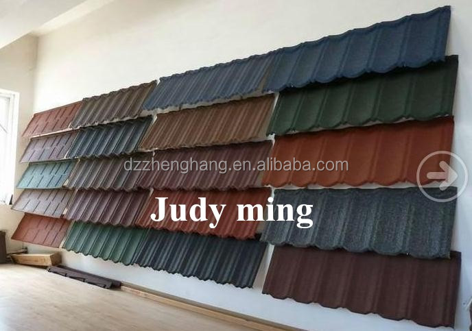 Colorful Stone Chip Coated Metal Roof Tiles/Steel Roofing Tile Sheet