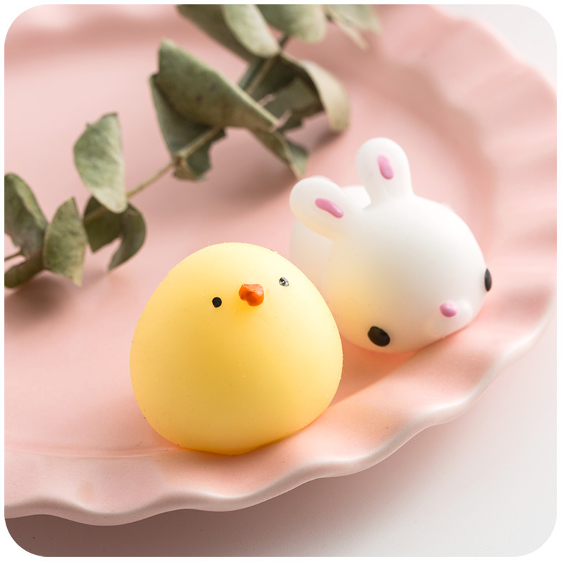 Wholesale cheap colorful cute small animal squishy sticky toys for kids