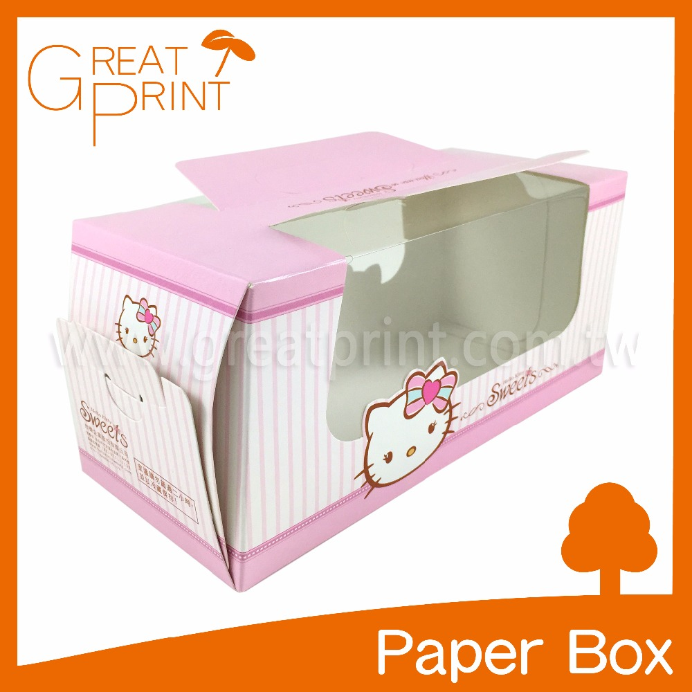 Hot Sweet Cupcake Custom Window Cake Box with Handle