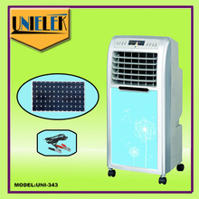 12v brushless motors solar home appliances rechargeable evaporative air cooler solar portable air conditioner
