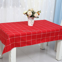 china factory christmas easter red checkered oriental tablecloth