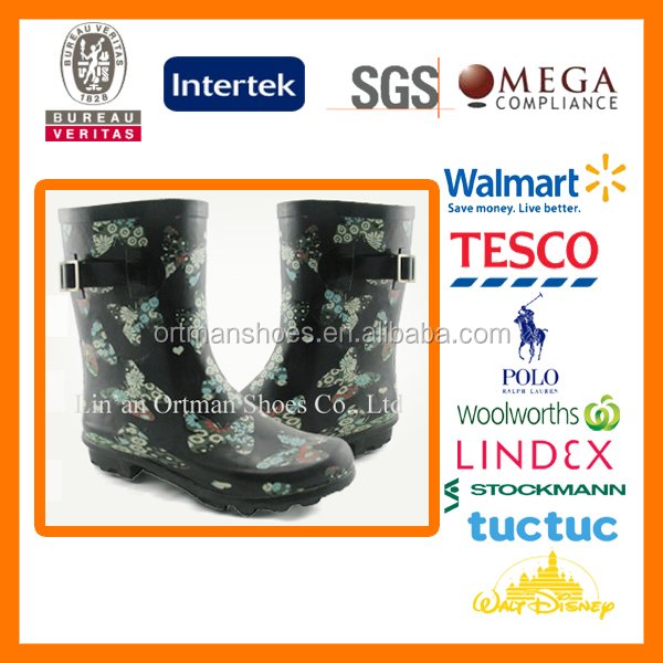 rubber dust boots OEM waterproof rain boots