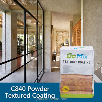 C840 textured concrete walls