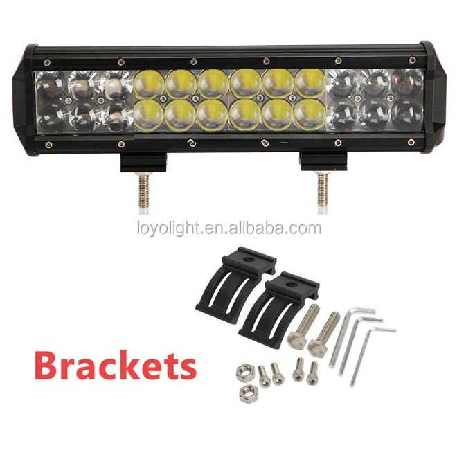 Optic Lens 4d led light bar 108w for osram 36 x 3 watt high power led driving light bars 17 inch