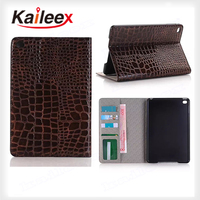 Manufactory Price Good Pu Leather For Ipad mini4 Crocodile Wallet Case