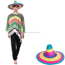 party costumes green adult men mexican poncho costume