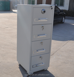 Modern design 4 drawers fire resistant safe cabinet