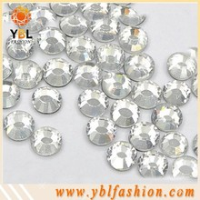 Clear Round dmc hotfix rhinestone with Shinning Facets