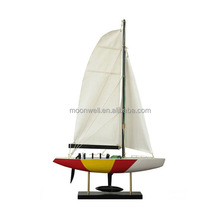 America's Cup Sailing Boat yacht model,Wooden Sailboat Model,Souvenir,Clipper Model Nautical Gifts,Decoration