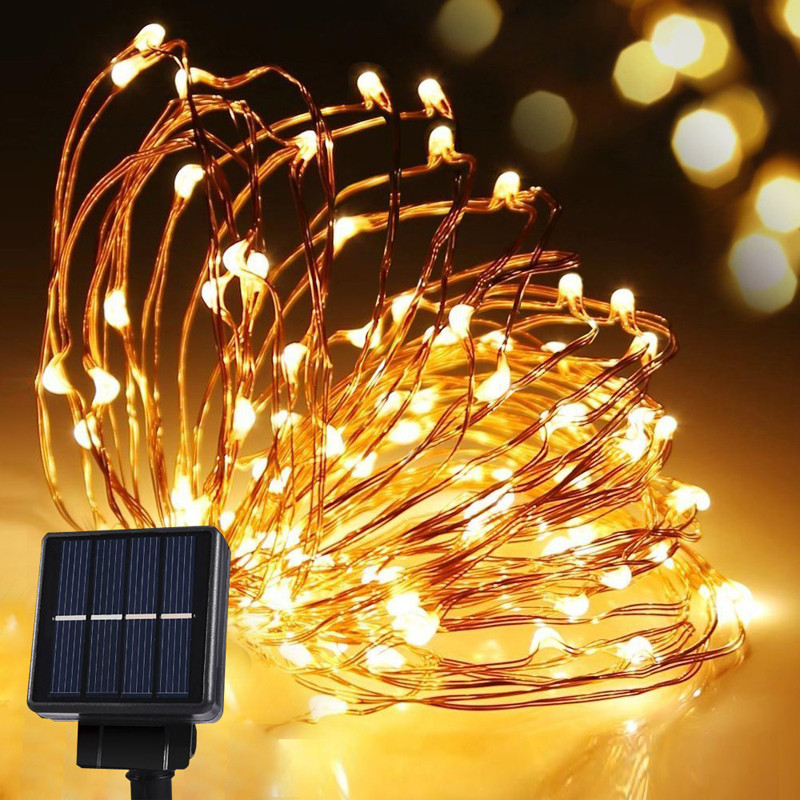 10m 100LEDS Solar Outdoor String Lights Outdoor Party Lights