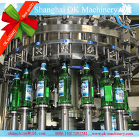 washing filling capping beer capping sealing machine