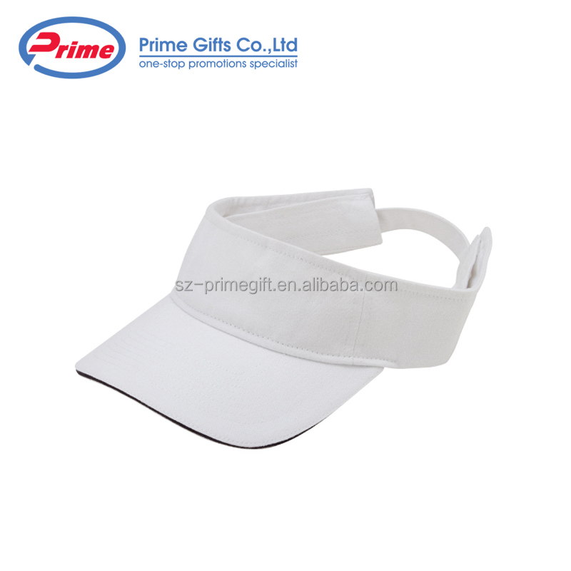 Low Price Logo Printed Wide Brim Sun Visor Hat