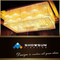 Rectangular fancy beaded flush mounted ceiling lamp