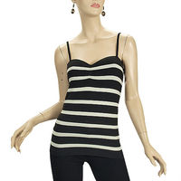 STYLE TBZ47: STRIPPED CAMI WITH ADJUSTABLE STRAP