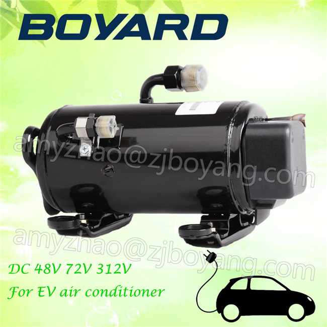 zhejiang boyard <strong>r134a</strong> brushless 12v <strong>24v</strong> 72v electric car ac <strong>compressor</strong> for tata electric car air conditioner