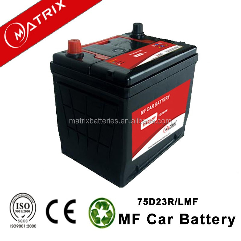 automobile 75d23r car battery factory from China