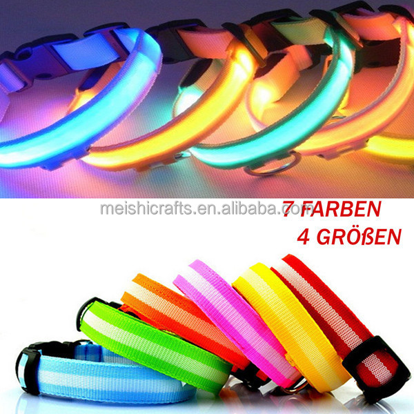 Collar de perro con led luminoso Disponible en 7 colores