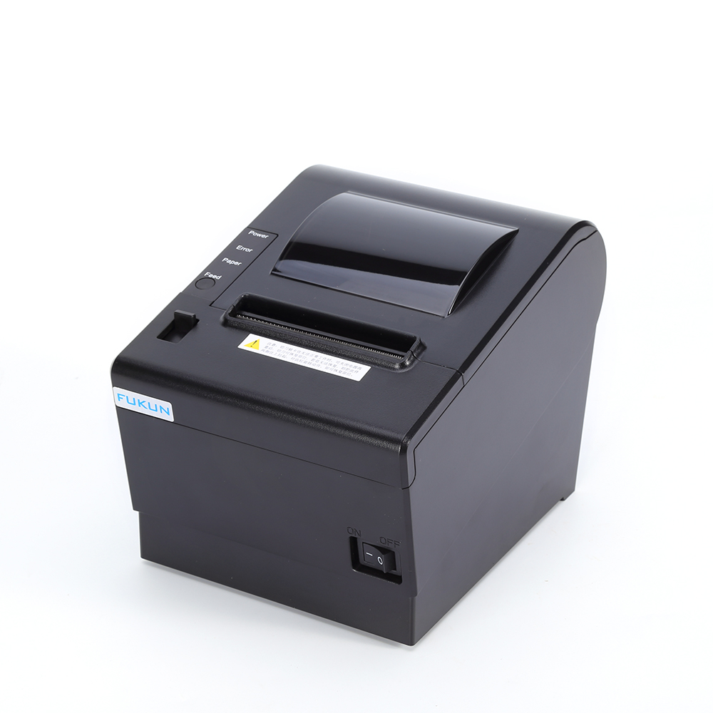 FK-POS80AT receipt printer 80mm qr code thermal printer By cashier drawer /USB surface