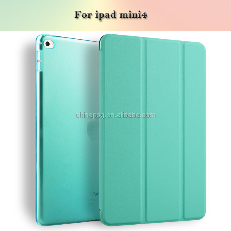 PU Leather Case For Apple iPad Mini 4 Tablet Cover Case Luxury Business Auto Wake/sleep