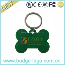 promotional metal dog tag/prt id metal key chains