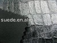 Imitate leather knitted suede fabric for garment & jacket