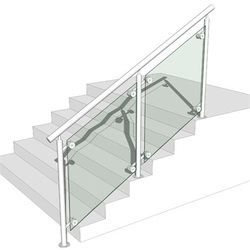 custom stainless steel newel glass stair and terrace railings design philippines