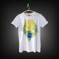 Hot sale printed white custom t shirt woman