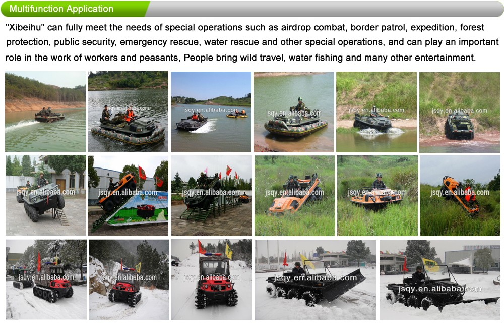 XBH 8X8-2C Diesel-engine vehicle transportation cart Amphibious All terrain Vehicle ATV