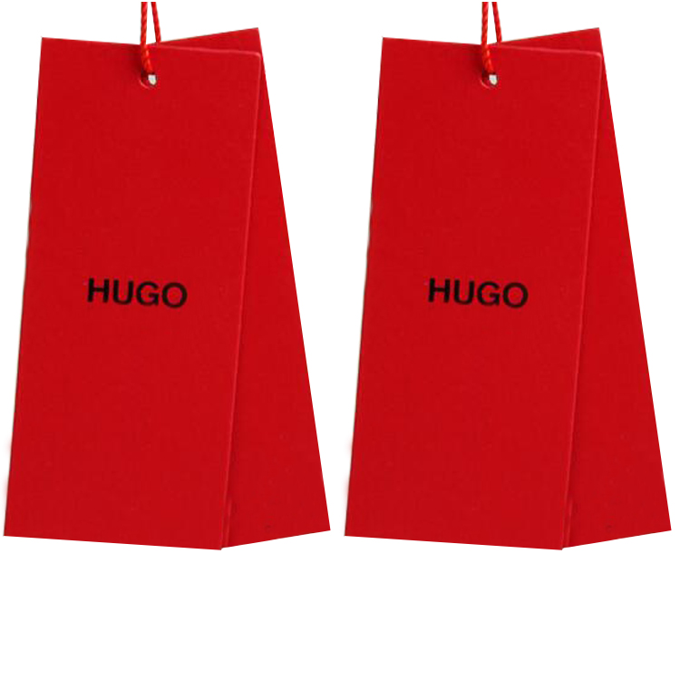red hang tag for shoes