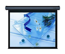 Office equipment 16:9 Electric roll down projector screen in-ceiling motorized projection screen