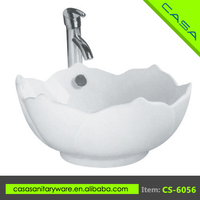 Art ceramic china hand washing white color sink counter basin