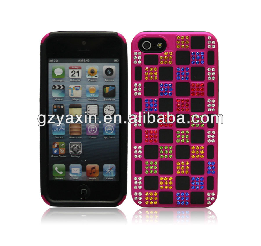 Bling Phone Case For Iphone5,Jeweled Cell Phone Case Rhinestone Case For Iphone,Rhinestone Case For Iphone5