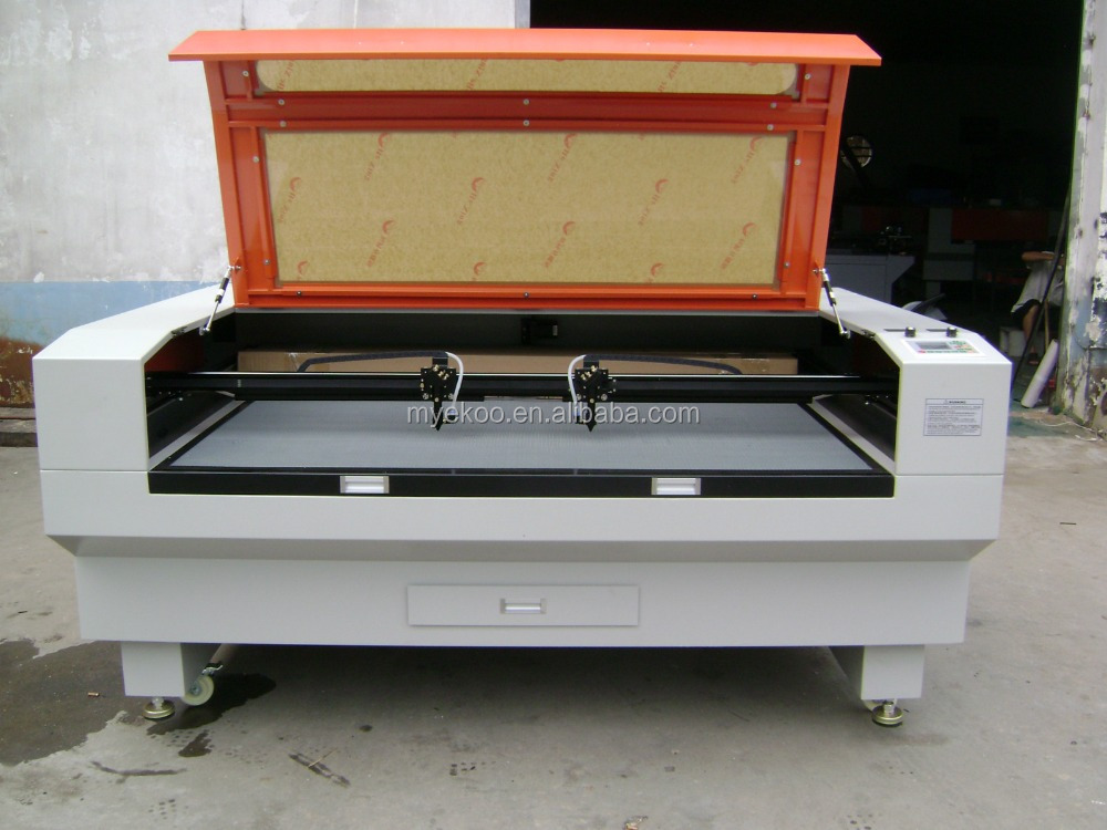 High speed 80W Co2 Laser Cutting machine price for Wood products and bamboo double heads Laser Cutting Machines price