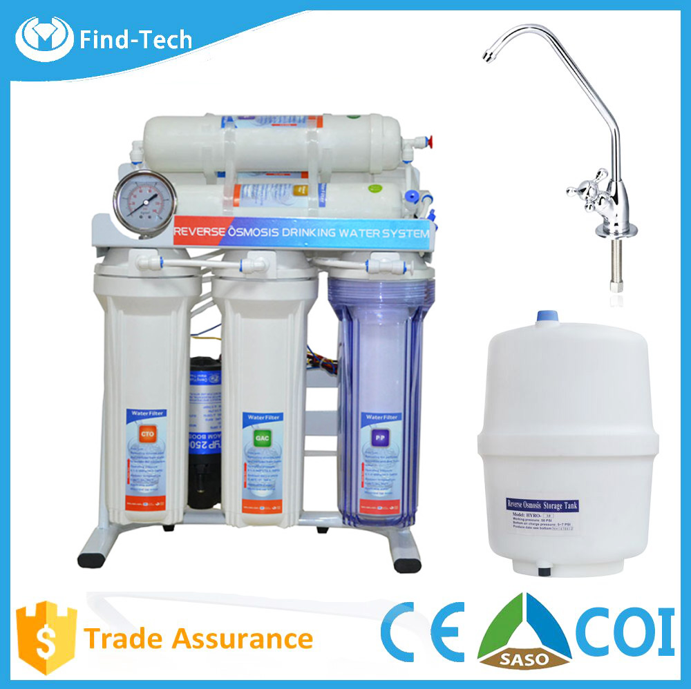 Taiwan type domestic ro systemStand Installation and Plastic Housing Material 6 stage mineral reverse osmosis system