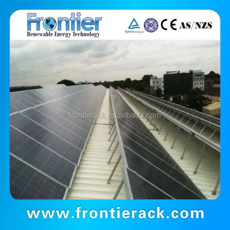 Strong and durable Adjustable Angle ground 500KW solar power racking system