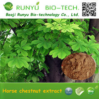 Natural pure organic herbal extract horse chestnut seed extract 20% aescin HPLC test horse chestnut extract