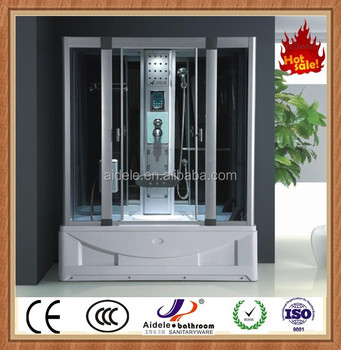 2015 manufacture corner design bathroom personal computer controlled complete shower room