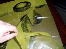 yellow plastic tyre bags packing tire for used tire use