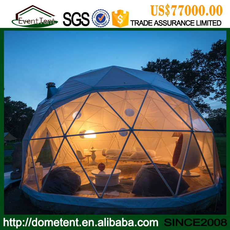 Winter House Round Tent Geodesic Domes For Sale With Steel Struture