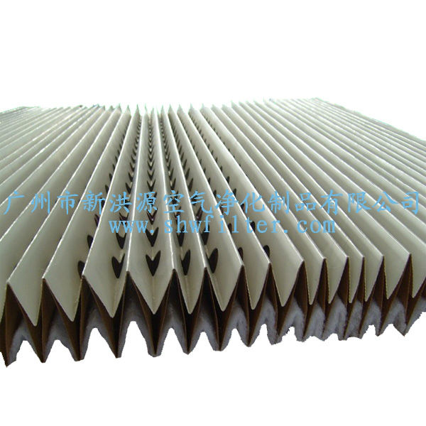 paint booth pleated paper filter for spray cabinet