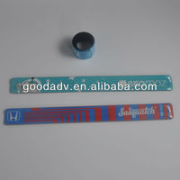 new products for 2014 OEM pvc slap bracelet/wholesale slap bracelets/glow in dark slap bracelet for promotion gift