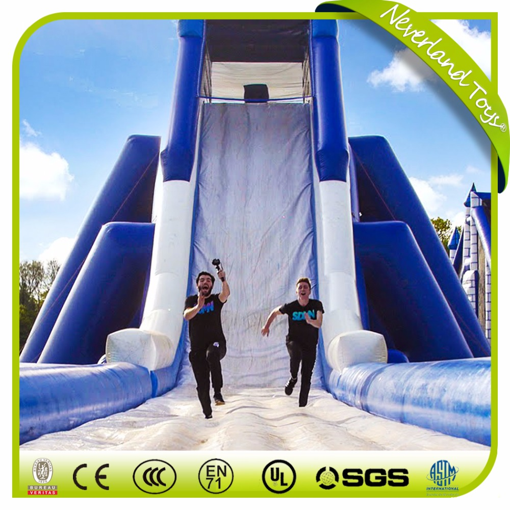 Giant Used Commercial Grade Slip n Slides Kids And Adult Custom Big Size Outdoor Playground Pool Inflatable Water Slide For Sale