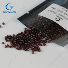 Natural 3.0mm charming garnet round small bead