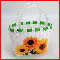 New carry PP plastic weaving shopping basket