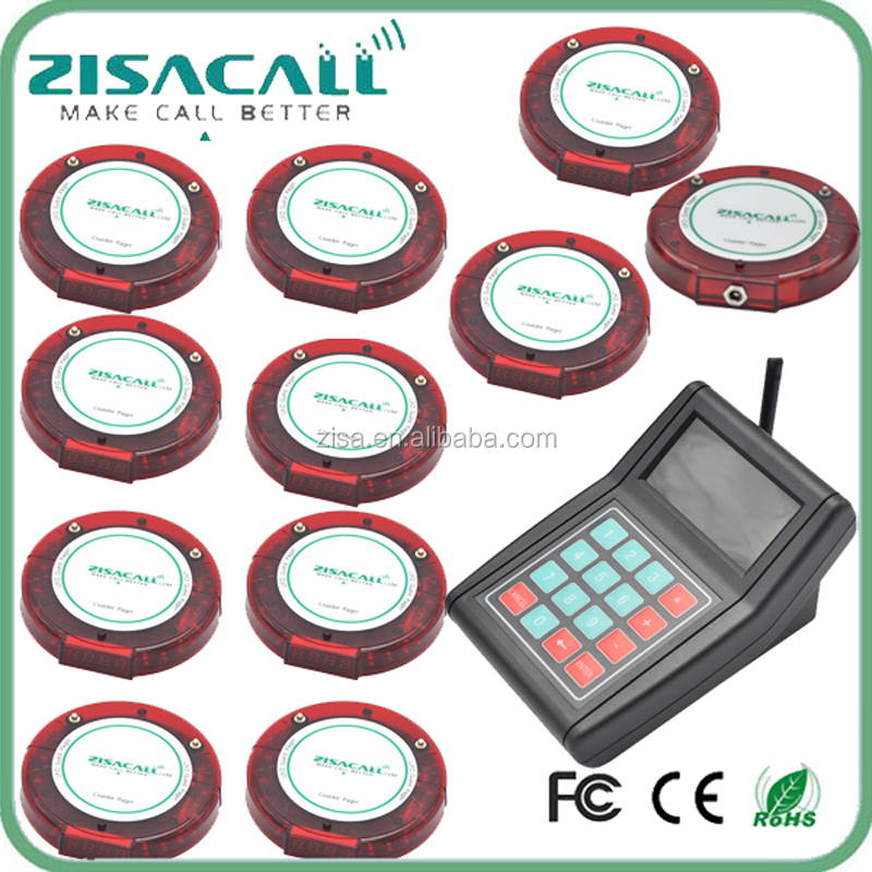 ZISACALL 2016 New Wireless Waiter Calling System , Restaurant Guest Paging System , coaster pagers