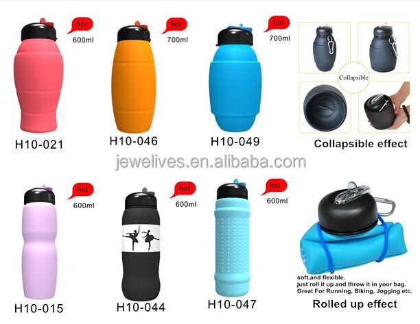 new innovative business ideas rubber collapsible water bottle